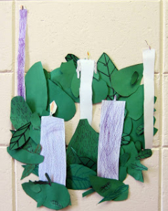 advent 1 paper wreath
